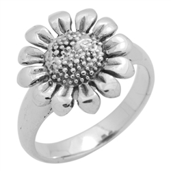 RPS1127 - Sterling Silver Sun Flower Ring
