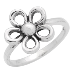 RPS1128 - Sterling Silver Open Cut Out Flower Ring