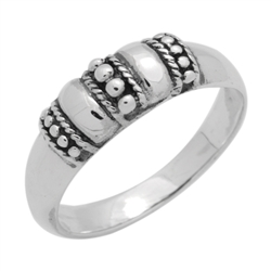 RPS1131 - Sterling Silver Bali Style Band Ring