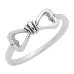 RPS1136 - Sterling Silver High Polish Infinity Heart Ring