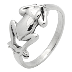RPS1139 - Sterling Silver High Polished Frog Ring