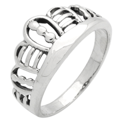 RPS1140 - Sterling Silver Crown Ring