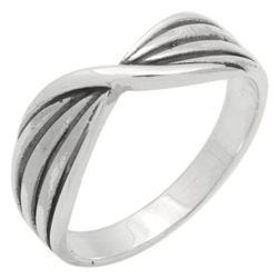 RPS1147 - Sterling Silver Twist Band Ring