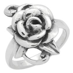 RPS1151 - Sterling Silver Flower Ring
