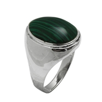 Silver Mens Ring with Stone