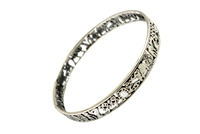 Sterling Silver Lucky Bangle SB001