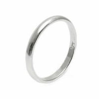 Silver Plain Wedding Band - 2mm