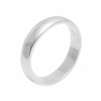 Silver Plain Wedding Band - 4mm