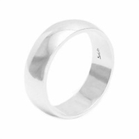 Silver Plain Wedding Band - 6mm