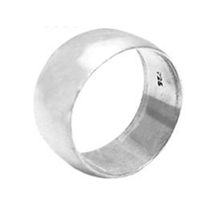 Silver Plain Wedding Band - 9mm