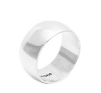 Silver Plain Wedding Band - 10mm