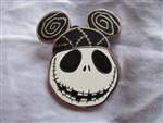 Jack Skellington Ear Hat Pin - Tim Burton's The Nightmare Before Christmas In Disneyland