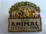 Disney Trading Pin Disney's Animal Kingdom (Raised Animals Under The Tree Of Life)