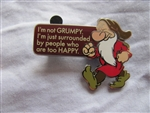 Disney Trading Pin 101234: I'm not Grumpy