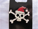 Disney Trading Pin 106327: Skull wearing Santa hat