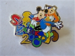 Disney Trading Pin  1102 WDW - Spring Break 2000 - Mickey, Goofy & Donald