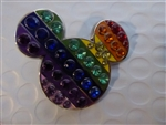 Disney Trading Pin 116460 Rainbow Jeweled Mickey Icon