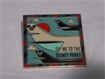 Disney Trading Pin 116622 Fly Me to the Disney Parks Framed Mickey Head Globe Icon Jet Airplane Tales