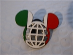 Disney Trading Pin 117108 Mickey Icon Italian Flag Lattice Pin