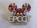 Disney Trading Pin 119295 Mickey Icon Flags of Epcot Lattice Pin