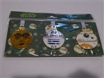 Disney Trading Pins 125236 Star Wars - Droids Christmas Ornaments Set