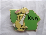 Disney Trading Pins  14937 State Character Pins (Iowa/Rabbit)