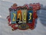 Disney Trading Pin Ringing in the Happiest New Year on Earth 2003 (Mickey) Spinner