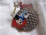 Disney Trading Pin 3185: Epcot with Sorcerer Mickey