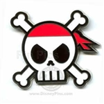 Disney Trading Pin  Pirates of the Caribbean - Skull and Crossbones w/ Hidden Mickey