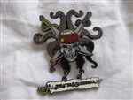 Disney Trading Pin 47080: Pirates of the Caribbean - Skull, Crossed Swords and Tentacles (Dangle)