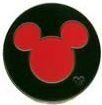 Disney Trading Pin 51305: WDW - Hidden Mickey Collection - Mickey Icon (Red)