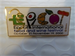 Disney Trading Pin 5444 WDW - Epcot International Food and Wine Festival 2000 (unreleased)