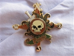 Disney Trading Pin 55136: Pirates of the Caribbean - Skull and Compass