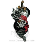 Disney Trading Pin 57838: Pirates of the Caribbean - Skull with Sliding Sword