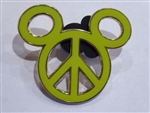 Disney Trading Pins Peace Sign Mickey Head (Yellow / Neon Green)