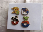Disney Trading Pin 7: 2000 Fab Four Character Icons Pin Set (4 Pins)