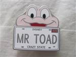Disney Trading Pin 77283 Character License Plate - Mystery Series - Mr. Toad
