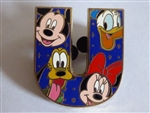 Disney Trading Pin  86628: Alphabet Collection 2011 - 'U'