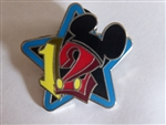 Disney Trading Pins 2012 Stars - Mini-Pin Collection - Blue and Black Star