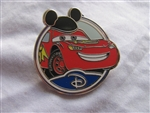 Disney Trading Pin 88457: WDW - Mystery Collection - Circle Icon 'D' - Lightning McQueen Only