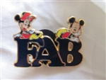 Disney Trading Pin 89579: 'Fab Five' Letter - 2 Pin Set - Fab Mickey and Minnie Only
