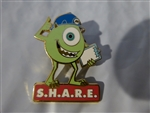 Disney Trading Pins 9077 DLR Cast Exclusive - Mike from Monsters Inc. S.H.A.R.E. (Red)