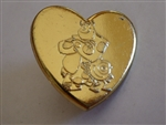 Disney Trading Pin 94383: Monsters Inc Variety Gold Heart Pin