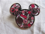 Disney Trading Pin 98481: Mickey Mouse Icon - Jeweled Pink