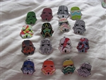 Disney Trading Pin Star Wars Stormtrooper Helmets Mystery Pack complete set of 16 pins