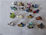 Disney Trading Pins Disney Racers Mystery Collection complete set of 16 pins