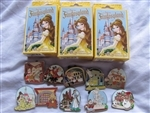 Disney Trading Pin New Fantasyland - Beauty and the Beast Mystery Collection Complete 10 Pin Set