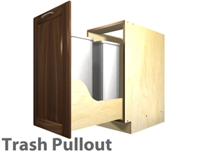 1 pullout trash cabinet