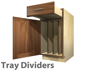 Base 1 door and 1 drawer TRAY DIVIDERS