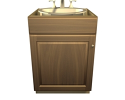 1 door 1 false front sink base cabinet